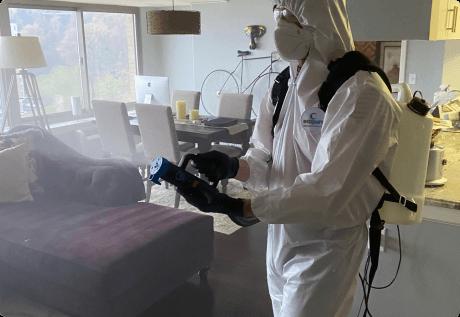 fogging spray disinfection